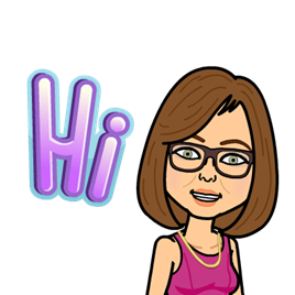 "Elena Fader's bitmoji smiling and saying ""Hi"""