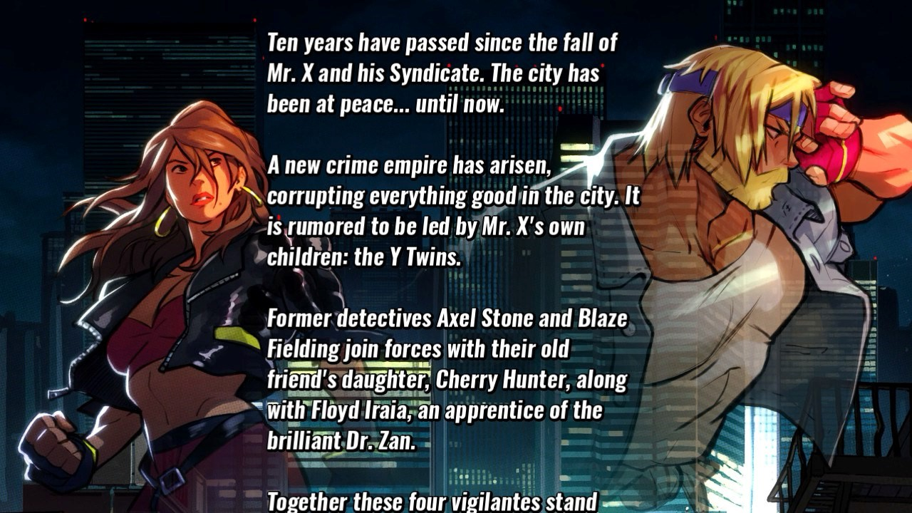 Story background screen shot with several paragraphs of text.